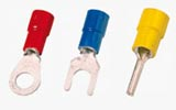 Insulated Solderless Terminals, ring-tongue terminals, fork-tongue terminals, pin-tipe terminals, DIN46237
