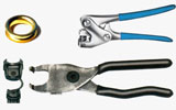 Special tools for cable eyelets and strain relief bushes
